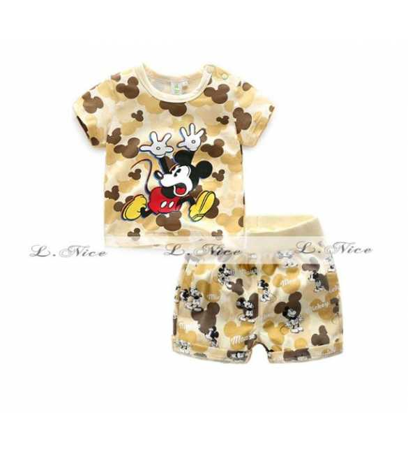 Setelan Anak L Nice 102 Mickey Mouse Brown (Baby Size)