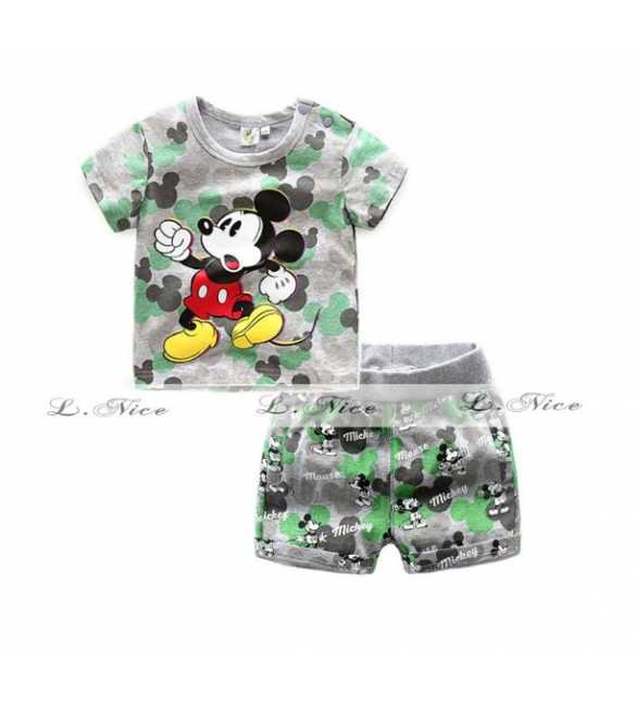 Setelan Anak L Nice 102 Mickey Mouse Gray (Baby Size)