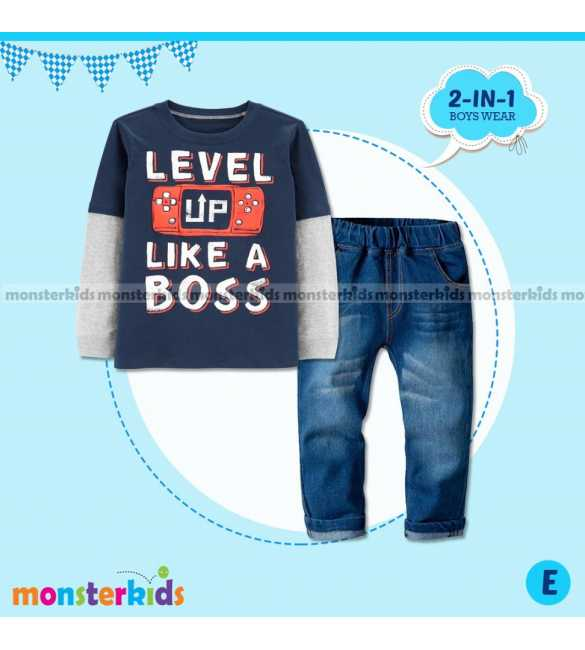 Setelan anak Laki Monster Kids Like a Boss (BIG SIZE)