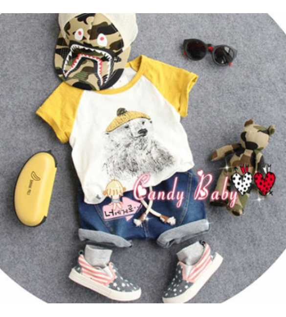 Setelan anak Candy Baby Yellow Dog