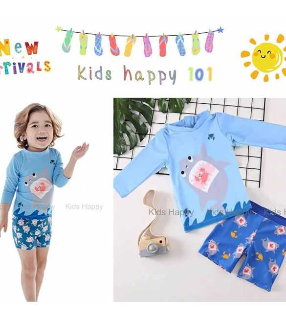baju renang anak Kids Happy KH 101 H Blue Shark (BIG SIZE)