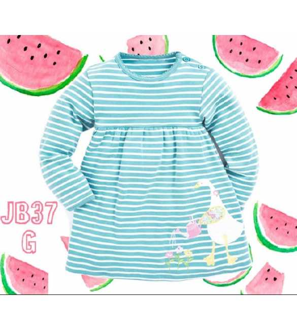 Dress Anak Jumping Beans 37 G Duck Stripe Blue