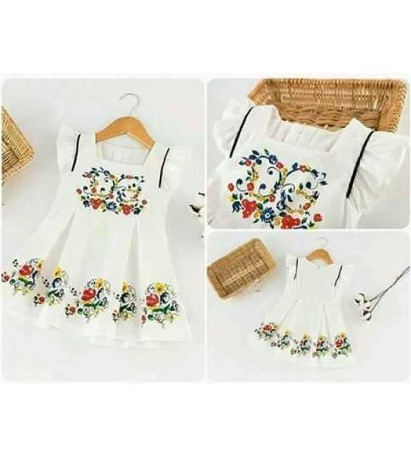 Dress Anak Flower White