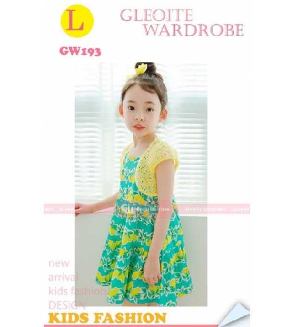 GW 193 L Set Dress Cardigan anak