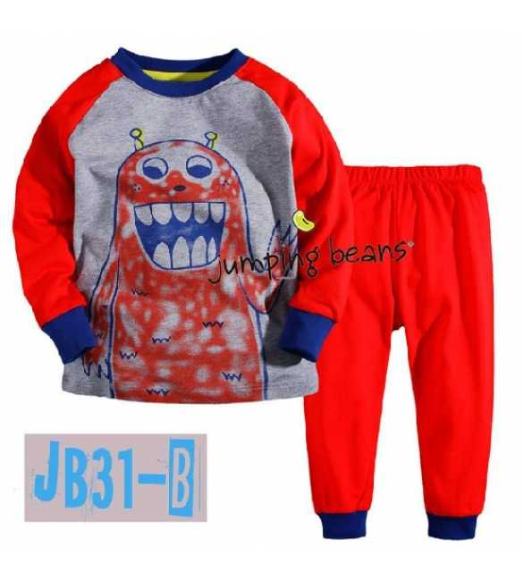 Piyama Anak Jumping Beans JB31B Monster Red