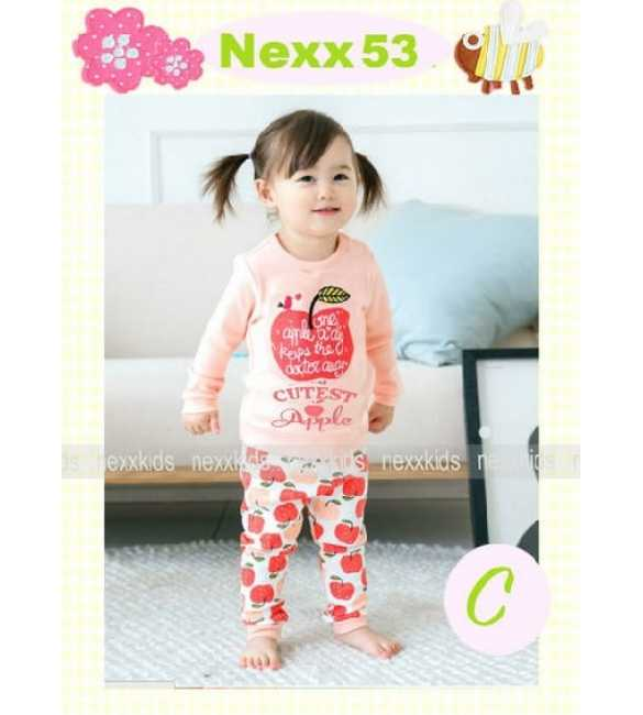 Piyama Anak Nexx 53 C Cutest Apple (Med Size)