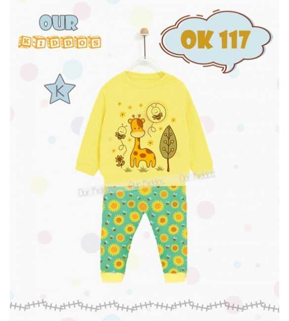 Piyama anak Our Kiddos OK 117 K Giraffe and Bee