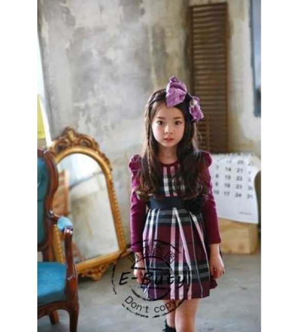 Dress E-Buty Plaid Purple