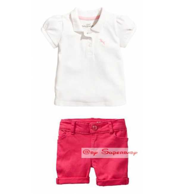 Set HM Polo Shirt White