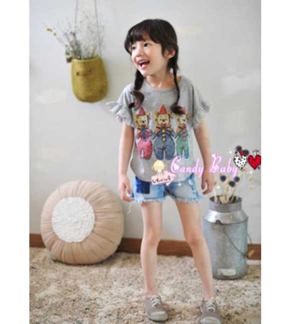 Setelan Candy Baby Clown Gray