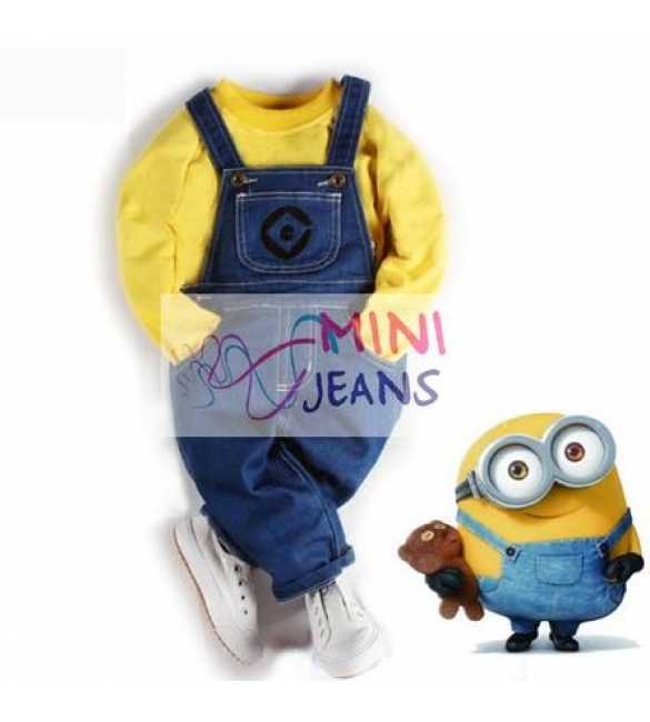 Setelan anak overall Mini Jeans Minion Yellow