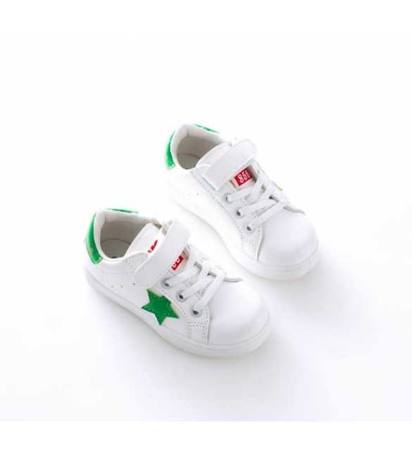 WS056 - Star Sneakers White Green (BIG SIZE)