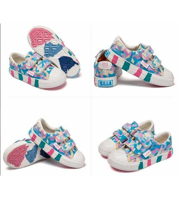 WS027 - Walker Shoes Printed Blue Pink