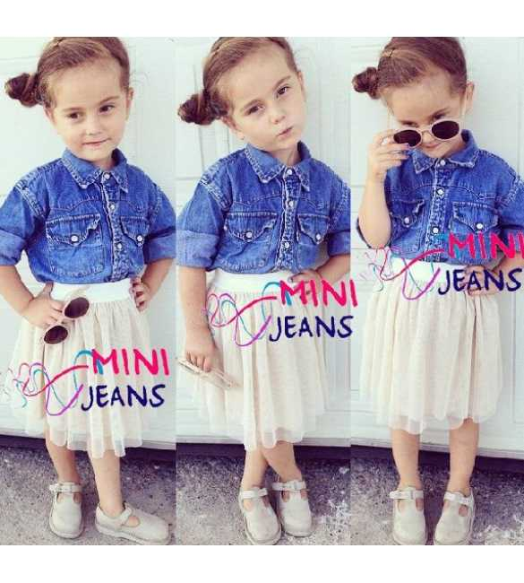 Set Mini Jeans Chloe Blue